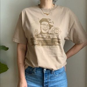 Tops - Allstyle Apparel Graphic Tan Cotton T Shirt Size L